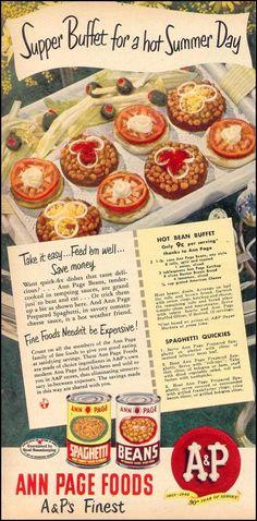 1949 ~ Hot Bean Buffet ~ Spaghetti Quickies
