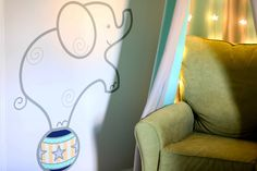 Project Nursery - Circus Elephant Wall Decal