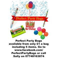 I hope to be able to supply you with large party bags with items your youngsters will love. If there is anything you don't particular like I maybe able to customize it to suit your requirements.