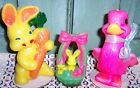 3 vintage gurley easter candles bunny rabbit with carrot duck basket - http://collectibles.goshoppins.com/holiday-seasonal/3-vintage-gurley-easter-candles-bunny-rabbit-with-carrot-duck-basket/