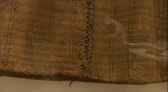 Wool skirt found in Huldremose bog, Denmark; detail showing double blanket stitch.  1st-2nd century CE.