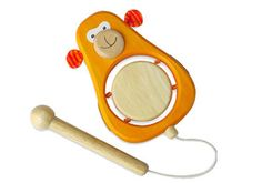 Drum this cheeky monkey's little tummy with the attached drum stick! - I'm Toy Monkey Drum, Kids musical Toys