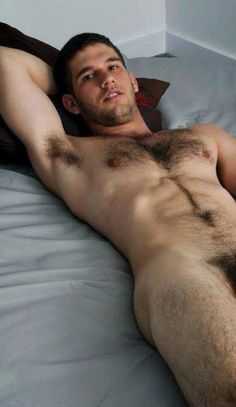 Beautiful Gay Otter Guy Waiting In Bed More Hot Men