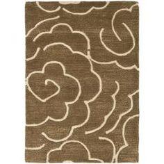 Handmade Soho Roses Brown New Zealand Wool Rug (2' x 3')