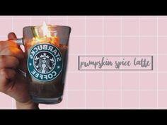 DIY: Pumpkin Spice Latte CANDLE! Starbucks Pumpkin Spice Latte, Diy Pumpkin, Wax Melts, Bath Bombs, Candles, Knitting, Crochet, Tableware, Youtube