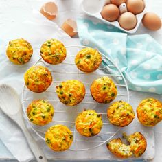 """Collect this Easy """"on-the-go"""" Healthy Breakfast Muffins recipe by Australian Eggs. MYFOODBOOK.COM.AU 