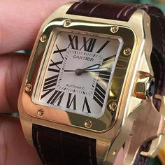 Boxed Papered 18ct Yellow gold Santos 100 XL. Like NEW £9900 #rolex #cartier #london #watches #watch #jewellery #luxury #lifestyle #bling #flash #thediamondbox #hublot #ap #urban