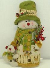 Love this snoman dressed in Lime green colors just right for Whoville decor! Christmas Decoupage, Felt Christmas, Christmas Snowman, All Things Christmas, Sock Snowman, Cute Snowman, Holiday Ornaments, Christmas Decorations, Christmas Chair Covers