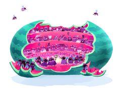 Flies at the Opera by Kim Smith, via Behance