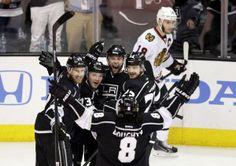 #Kings celebrate a goal, Toews awkwardly skates away [May 26, 2014]