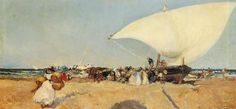 Arrival of the Boats,Joaquin Sorolla Y Bastida