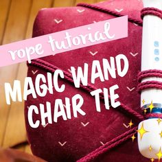 Eee! My Magic Wand chair tie video is up! Learn how to tie your wand vibe for hands-free or forced orgasm wonderfulness. Check the link in my bio or go to afemmecock.com.  #ontheblog #magicalvibes #magicwand #goodvibes #ropeplay #rope #kink #formerlyknownas #hitachi #sexed