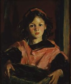 """""""Mary Ann with her Basket,"""" Robert Henri, oil on canvas, 24 x Currier Museum of Art. American Realism, American Artists, Paintings I Love, Portrait Paintings, Currier Museum Of Art, Ashcan School, Robert Henri, Galerie D'art, Drawing Techniques"""