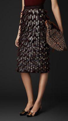 Fringed Eyelet Skirt | Get in my closet!!!!