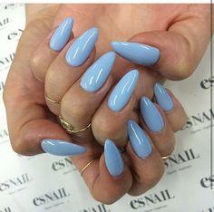 синий, мода, ногти, приятное, стиль