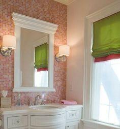 Für Zu Hause, Badezimmer, Rosa Fliesen, Glasfliesen, Traditionelle Bäder,  Badezimmerideen, Badtapeten, Badezimmer Bilder, Deko Ideen