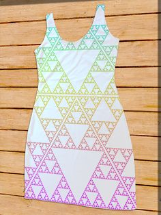 Triforce Fractal Dress Bodycon Tank Dress #LegendofZelda