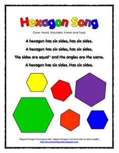 Cute little song to remember a hexagon has 6 sides
