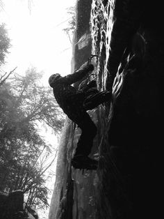 Ice climbing at the Flume - New Hampshire. back yard ice climbing favorite.