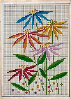 Cross Stitch Bookmarks, Cross Stitch Borders, Cross Stitch Flowers, Cross Stitch Charts, Cross Stitch Designs, Cross Stitching, Cross Stitch Embroidery, Hand Embroidery, Cross Stitch Patterns