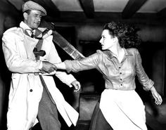"This famous scene was recreated in the movie ""E.T."" -'The Quiet Man'  Maureen O'Hara and John Wayne"