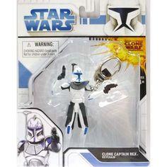 Basic Fun - Star Wars Clone Wars Series 1 - CLONE CAPTAIN REX ( keychain ) @ niftywarehouse.com #NiftyWarehouse #Geek #Products #StarWars #Movies #Film