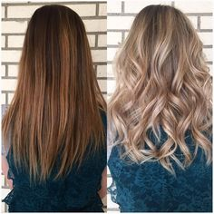 From brown and brassy to blonde and sassy #beforeandafter #babylights…