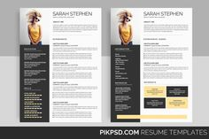 Resume Cover Letter Template, Resume Design Template, Cv Template, Print Templates, Resume Templates, Education Information, Jobs, Newsletter Templates, Presentation Templates