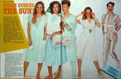 80's fashion - 1983 fashion - mesh tops , jelly bags , capris