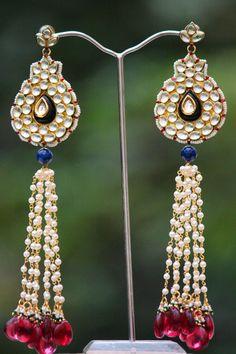 Stunning Pearl & Kundan Earrings