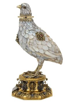 awesome Silver-gilt cup in the form of a partridge, by Jorg Ruel, Nuremberg, Germany,