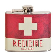 Shop for Medicine Fun Multi-color Party Flask. Get free delivery On EVERYTHING* Overstock - Your Online Gifts Store! Online Gift Store, Online Gifts, Best Stocking Stuffers, Stainless Steel Material, Beige Background, Bar Tools, Ms Gs, Gag Gifts, Barware