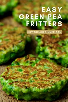 These green pea fritters are even easier than pancakes and they're just so special! Perfect for breakfast, brunch, lunch or dinner. They require very few ingredients, which you probably already have on hand. A great little frozen peas recipe. Vegetable Recipes, Vegetarian Recipes, Healthy Recipes, Curry Recipes, Family Meals, Kids Meals, Easy Meals, Baby Food Recipes, Cooking Recipes
