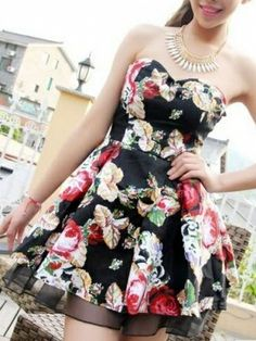 Latest Mood for Love  Dress (Black,White) Party Dresses from stylishplus.com