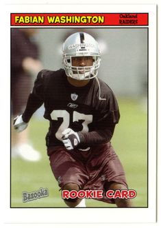 Fabian Washington RC # 202 - 2005 Topps Baz Football NFL Rookie