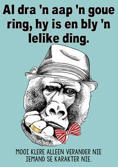slagspreuk afrikaans aap plakkate hoezit