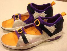 80's Style Diadora Men's Purple Orange White Sneaker Sandal Vintage Shoes 10.5 #Diadora #SneekerSandal
