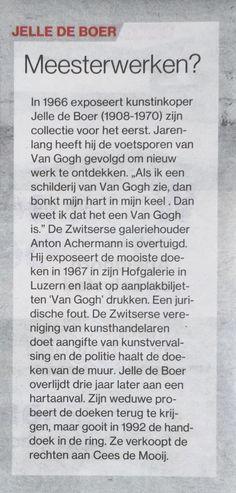 Mijn oma's broer #JelleDeBoer en zijn echte #VincentvanGogh mijn zoektocht liep dood! #TcTubantia @vangoghmuseum