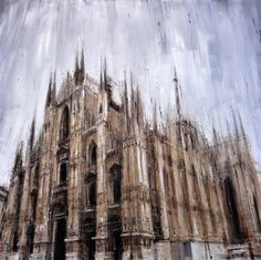 Valerio D'Ospina :: 'Cattedrale di Milano' (2014) :: oil on canvas #art #painting