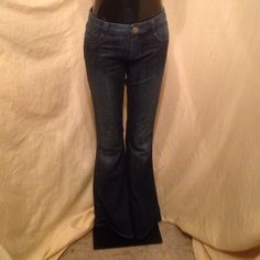 Radcliffe London denim Jeans 29x33 Dark wash denim Jeans. Spot on inner leg, see last picture. Approximate measurements are 16 waist, 9 rise, 33 length. Gently used consignment piece. Radcliffe London Jeans Flare & Wide Leg