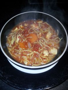 chicken noodle soup with bacon