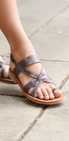 Strappy leather sandal by BEDSTU. Perfect for sunny days.
