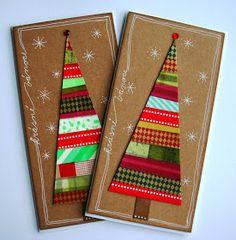Lena-Art: Washi - tentokrát vánoční Christmas Cards, Christmas Ornaments, Christmas Ideas, Washi Tape, Stampin Up, Decoupage, Gift Wrapping, Crafty, Quilts