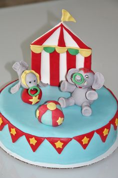 Under the Big Top Birthday Cake by stardust cakes #cakes #circuscake