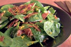 Replace balsamic with Reisling wine Get Spinach Salad with Orange Vinaigrette Recipe from Food Network