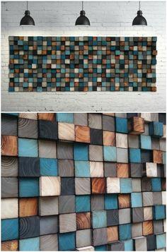 Cabecera arte de la pared de mosaico