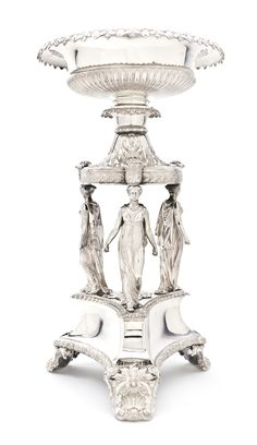 An English Silver Centerpiece  |  Paul Storr, 1820  London  He was of Huguenot Descent