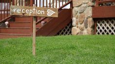 reception lawn sign