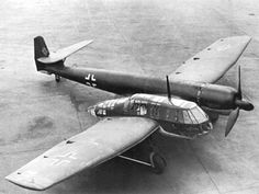 (100+) Tumblr Blohm & Voss BV 141 Built in Germany just prior to WW2, the BV-141 was designed as a tactical reconnaissance aircraft, with a crew gondola completely separate from the rest of the fuselage.  The BV-141 had a crew of three; one pilot, one observer/bombardier, and one tail gunner for self defense.  Less than 30 were built.