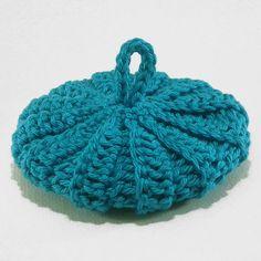 Tawashi coton 9 cm bleu turquoise foncé